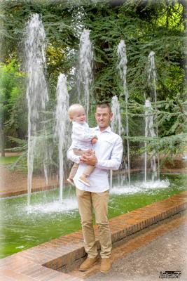 Séance photos papa et bébé
